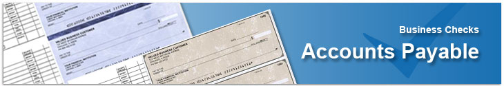Accounts Payable Checks in classic styles or in designer styles