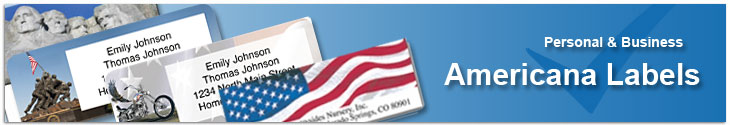 Americana Address Label