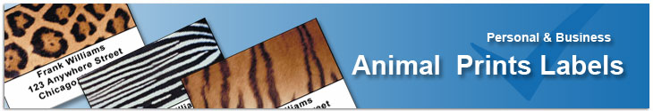 Animal Prints Address Label