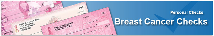 Order Breast Cancer Personal Checks In the Mail