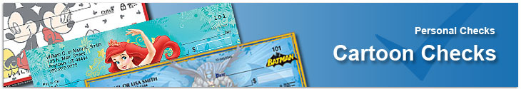 Order Cartoon Characters Personal Bank Checks Cheap