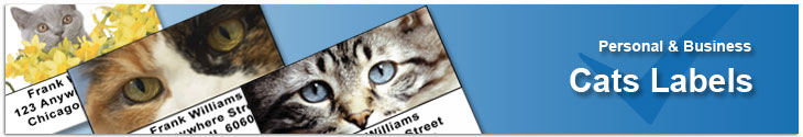 Cats & Kittens Address Label