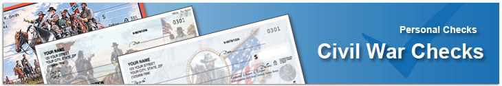Order Civil War Checks that remind you of the pride of the North or the pride of the South
