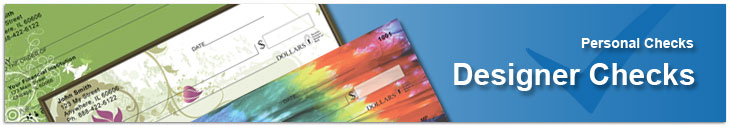 Order fun personal checks with chevron stripes.