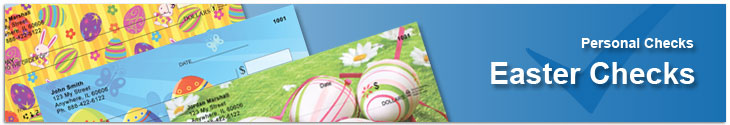 Order Easter personal checks and save up to 70% off bank prices