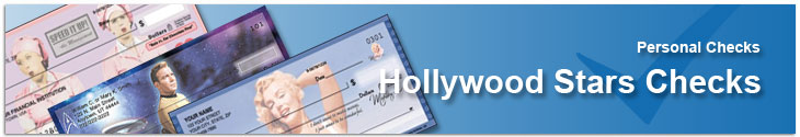 Order Hollywood Stars checks like Lucille Ball, John Wayne and Elvis Presley