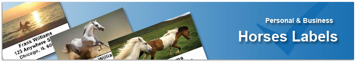 Horses Address Labels Address Label