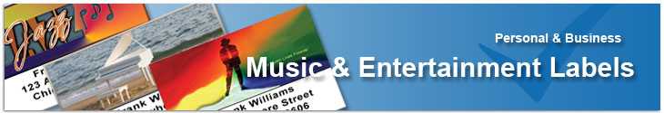 Music & Entertainment Labels Address Label