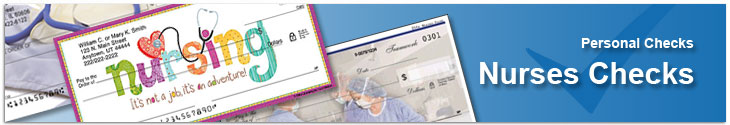 Click on Nurses Rule Personal Check Designs for more details
