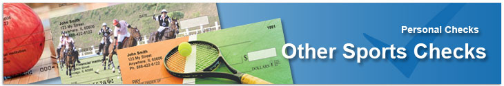 Order Individual Sports Checks Featuring Tennis, Archery, Ballet, Bowling & More