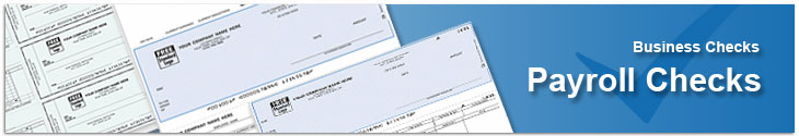 Payroll checks with vouchers to make record keeping easier