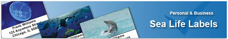 Sea Life Address Labels Address Label