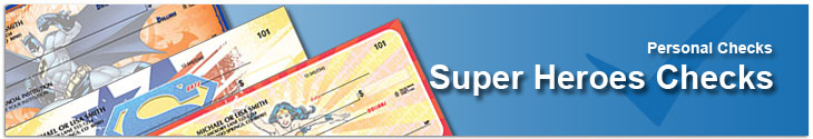 Order Super Heroes Checks Including Batman & Superman Checks