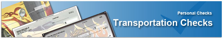 Order Transportation Themed Personal Check Designs Online
