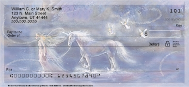 Follow Your Dreams Fantasy Unicorn and Fairy Personal Checks