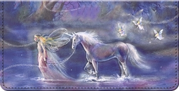 Click on Follow Your Dreams Fantasy Unicorn and Fairy Art Checkbook Cover For More Details