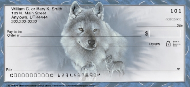 Click on Spirit of the Wilderness Wolf  Personal Checks For More Details