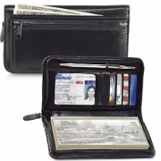 Click on Black Zippered Leather Checkbook Cover For More Details