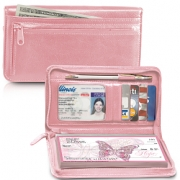 Click on Pink Zippered Leather Checkbook Cover For More Details