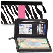 Click on Zebra Print Zippered Wallet Checkbook Cover For More Details