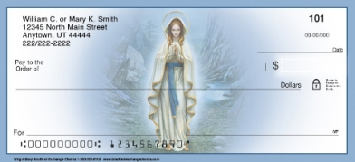 Click on Christian - The Virgin Mary Religious Christian  Personal Checks For More Details