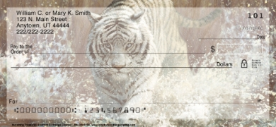 Click on Vanishing Treasures Tiger  Personal Checks For More Details