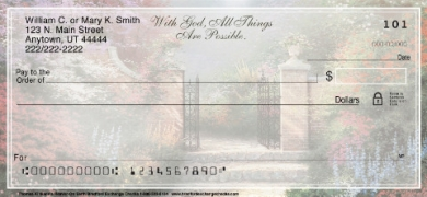 Click on Christian - Thomas Kinkade's Heaven on Earth  Personal Checks For More Details
