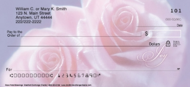 Click on Soft Pink Roses Personal Checks For More Details