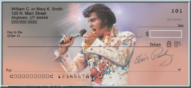 Click on Remembering Elvis(R)  Personal Checks For More Details