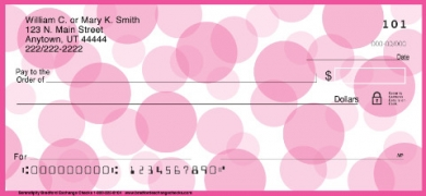 Click on Serendipity Pink Polka Dots  Personal Checks For More Details