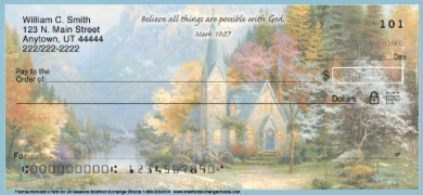 Click on Thomas Kinkades Faith for all Seasons Personal Checks For More Details
