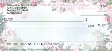 Click on Lena Liu's Floral Borders with Verse Inspirational  Personal Checks For More Details