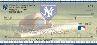 Click on New York Yankees(R)  Personal Checks For More Details