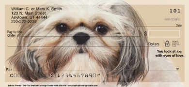 Click on Faithful Friends - Shih Tzu Dog Personal Checks For More Details