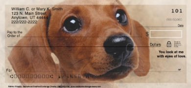 Click on Faithful Friends - Dachshund Dog Personal Checks For More Details