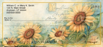 Click on Fields of Sunflowers Personal Checks For More Details