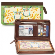 Click on Challis & Roos Awesome Owls Zippered Leather Checkbook Cover For More Details