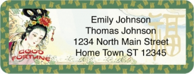 Click on Good Fortune Return Address Label For More Details