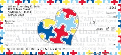 Click on Heart For Autism Personal Checks For More Details