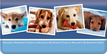 Click on Rescued is My Breed of Choice Checkbook Cover For More Details
