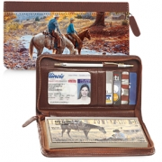 Click on Cowboy Roundup Zippered Wallet Checkbook Cover For More Details