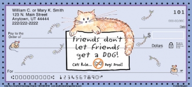 Click on Cats Rule  Personal Checks For More Details