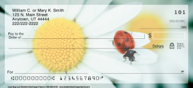 Click on Lady Bug Luck Daisies Personal Checks For More Details