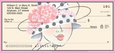 Click on Vintage Glamour Hats  Personal Checks For More Details