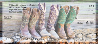 Click on Cowboy Boots  Personal Checks For More Details