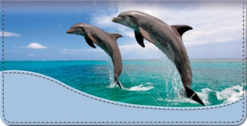 Click on Dancing Dolphins Checkbook Cover For More Details