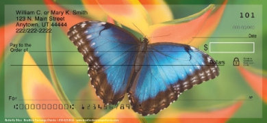 Click on Butterfly Bliss  Personal Checks For More Details