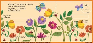 Click on Challis & Roos Blooming Gardens Personal Checks For More Details