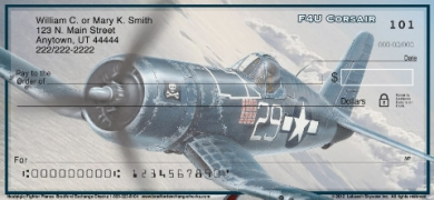 Click on Nostalgic Fighter Planes  Personal Checks For More Details
