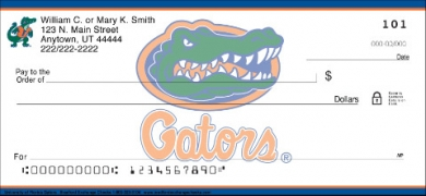 Click on University of Florida  Personal Checks For More Details